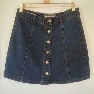 Hot Kiss Skylar Skirt Women's Denim BoHo